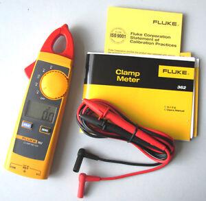 Fluke-362-de-Mano-Abrazadera-Medidor-Probador-Multimetro-Digital-AC-dc-True-rms-200A