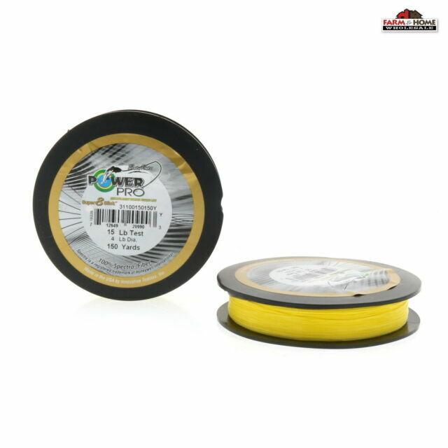Power Pro Super Slick Haute-Vis Jaune 150 Yd - environ 137.16 m choisissez taille *