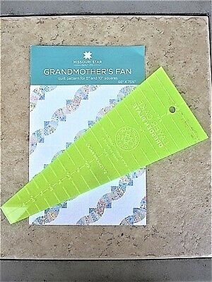 "Dresden /& Grandmothers Fan Pattern for 5/"" /& 10/"" Squares Missouri Star Quilt Co"