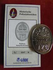 GÖDE ORDEN POLIZEIABZEICHEN - HAMBURG BAHNPOLIZEIBEAMTER + ZERTIFIKAT 0047