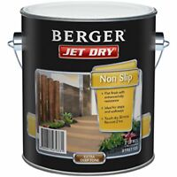 Berger Jet Dry Non Slip Paving Paint 2l, For Walkways - Amber Or Extra Deep