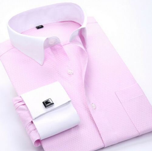 New Mens French Cuff Formal Business Dress Long Sleeve Button Down Shirts YC6347
