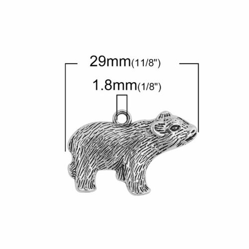 20 Or 50PCs 29mm Antiqued Silver Plated Pendants C8893-10 Badger Charms
