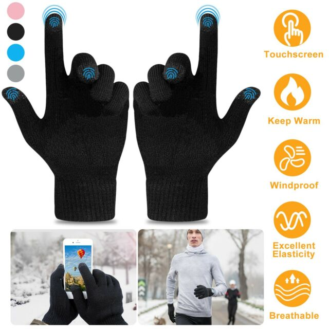 Womens Ladies Adults Touchscreen Smart Warm Gloves For Apple IPhone IPad Mobile
