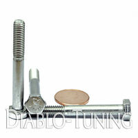 M6-1.0 X 50mm - Qty 10 - Din 931 Hex Cap Bolt / Screw - Stainless Steel A2-70