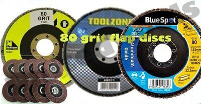 115mm 80 Grit Aluminium Oxide Flap Disc For Angle Grinder Sanding//Sander