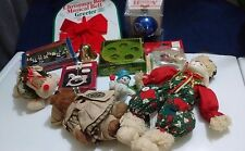 Christmas Decoration Lot Some Vintage Items Silver Plated, Ceramic & Cloth