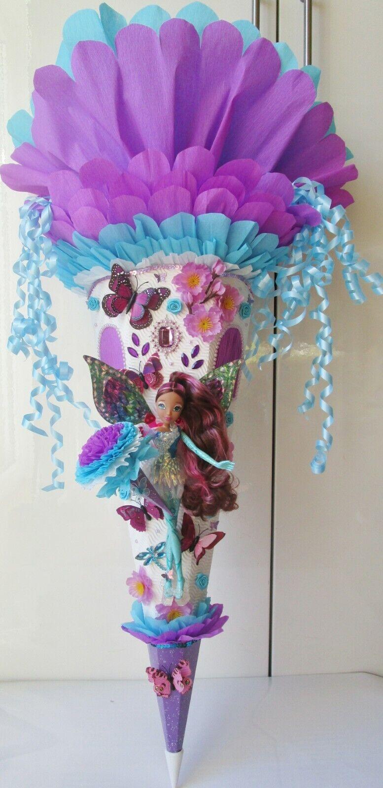 Trendy Barbie Schmetterlings Winx Layla Fee Prinzessin Schultüte 1,03 m (34) | Offizielle  | Mittel Preis  | Moderate Kosten