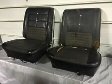 ORIGINAL 66-67 FORD FAIRLANE / COMET BUCKET SEATS GT GTA BLACK WITH BRAKETS
