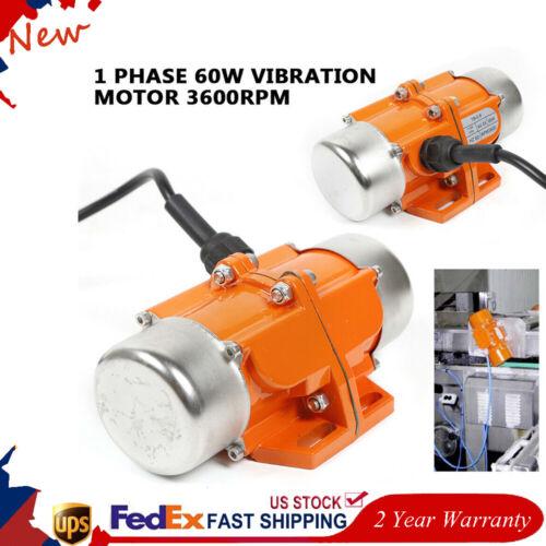 AC110V 60W Vibrating Motor Industrial Asynchronous Vibrator Single Phase 3600rpm
