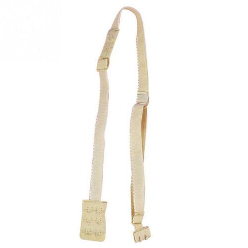 Low Back Bra Converter Strap Extender Backless Adjustable Adopter 2 Hooks Beige
