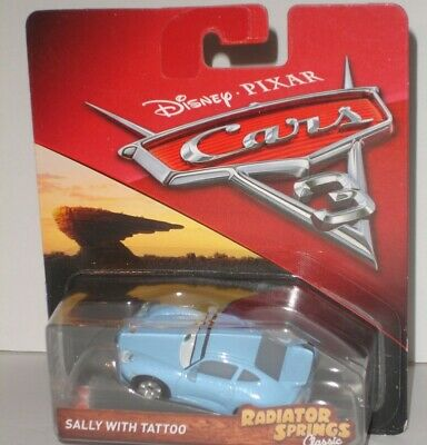 Disney pixar cars 3 diecast sally with tattoo RARE
