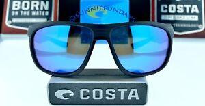 26d8fbe19a4b COSTA Del Mar POLARIZED KIWA  209 MATTE BLACK TEAK w BLUE GLASS ...