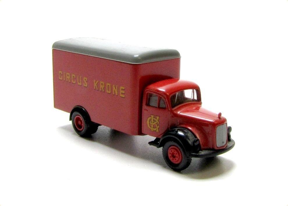 BREKINA 4009 Mercedes-Benz Mercedes-Benz Mercedes-Benz LP Hauber Kasten Circus Krone red Modell Maßstab 1 87 48d375