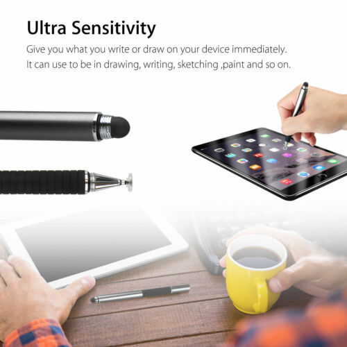 Capacitive Stylus Pen 2 in1 Universal Touch Screen Precision Tip Drawing Tablet
