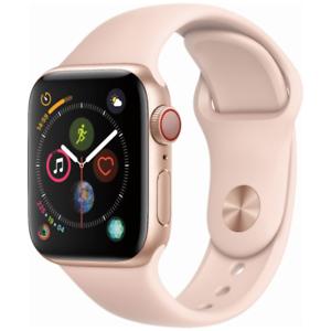 Apple-Watch-Series-4-40mm-Gold-Aluminum-Pink-Sport-Band-GPS-Cellular-MTUJ2LL-A