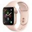 Apple-Watch-Series-4-40mm-Gold-Aluminum-Pink-Sport-Band-GPS-Cellular-MTUJ2LL-A thumbnail 1