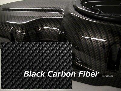 2 Pcs BLACK CARBON FIBER Hydrographic Film Water Transfer Printing 50x300 cm car