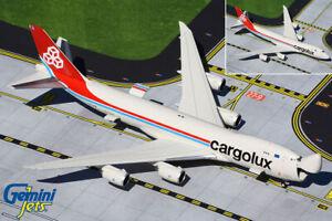 GEMINI (GJCLX1896) CARGOLUX 747-8F (OPERATIONAL DOORS) 1:400 SCALE DIECAST MODEL