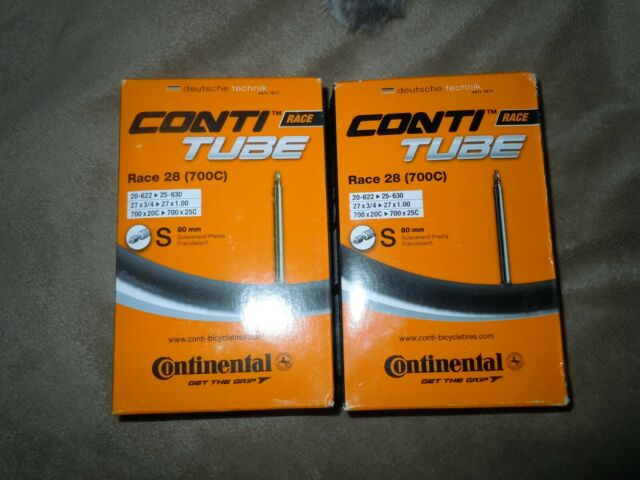 42 60 80mm Presta Valve Continental Race 28 Road Bike Inner Tube 700c 18//25c