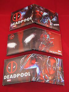 NUOVO Marvel Supereroe Wallet DEADPOOL * 3 * Designs 							 							</span>