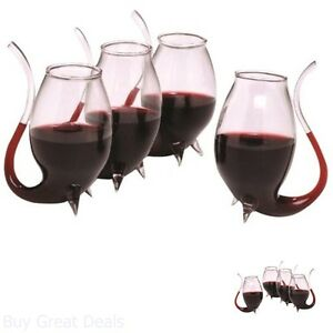 Oenophilia-Port-Wine-Sippers-Beverage-Decanter-Set-of-4-Liqueur-Glass-Sherry-Bar