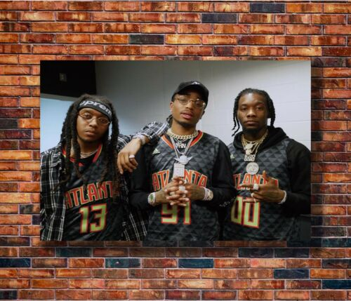Hot Fabric Poster Migos Rapper Music Hip Hop Group Stars 36x24 30x20 40x27 Z829