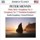 Peter Mennin: Moby Dick; Symphony No. 3; Symphony No. 7 'Variation-Symphony' (CD, Jul-2012, Naxos (Distributor))