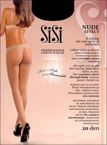 Sisi-Nude-Effect-20-den-opaco-elasticizzato-senza-cuciture-Corpino-Seamless