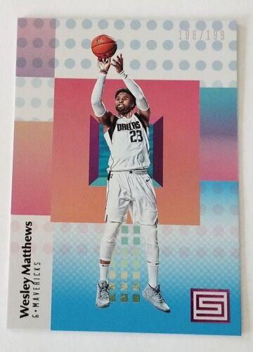 2017-18 Panini Status Basketball - Blue #d 196/199 - WESLEY MATTHEWS - Mavericks