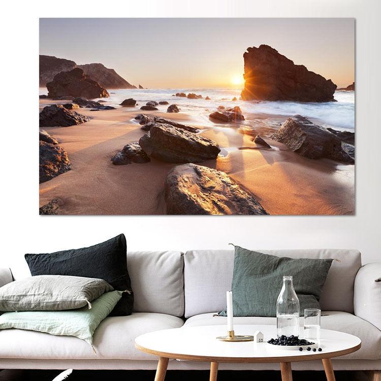 3D Strand, Steine  Fototapeten Wandbild Fototapete BildTapete Familie AJSTORE DE