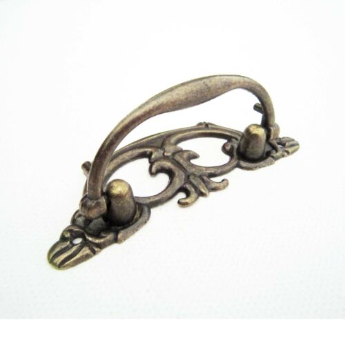 2X Antique Brass Vintage Solid Furniture Handle Dresser Cabinet Drawer Pull Knob