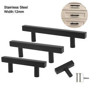 Black-Stainless-Steel-Kitchen-Cabinet-Handles-Drawer-Pulls-Cupboard-Door-Knobs