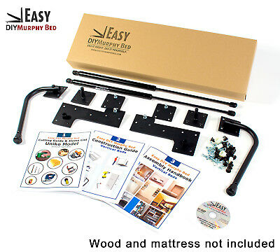 Do-it-Yourself Murphy Bed Hardware Kit Full Size - Vertical Wall Mount