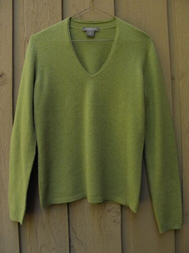 Ann Taylor Womens Sz Small 100% Cashmere Apple Gre