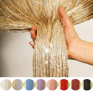 Door-String-Curtain-Room-Divider-Panel-Window-Tassel-Fringe-Beads-Fly-Screen