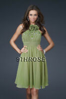 Cute Baby Doll Beaded Pleated Green Cocktail/homecoming/bridesmaid Short Dress