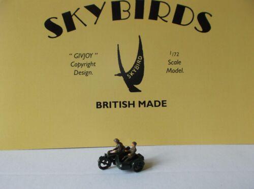 Skybirds Models ejército británico Moto y Sidecar