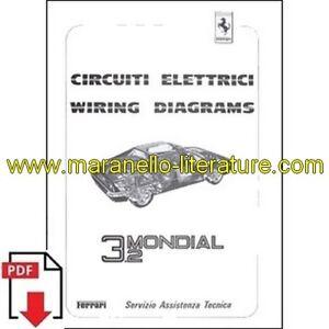 1986 Ferrari Mondial 3.2 wiring diagrams 419/86 PDF (it/uk) | eBay