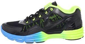 29e85b92e34e Nike Lunar TR1 Men s Training Shoes Black Black Volt Blue Glow