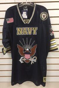 00e253187 USN Us Navy Rapid Dominance Eagle Military Logo Football Jersey X ...
