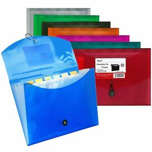 Pixel A4 Office Home School Expanding File 7 Pockets Document