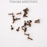 Antique Copper Solid Rivets 1/4 Long Package Of 50
