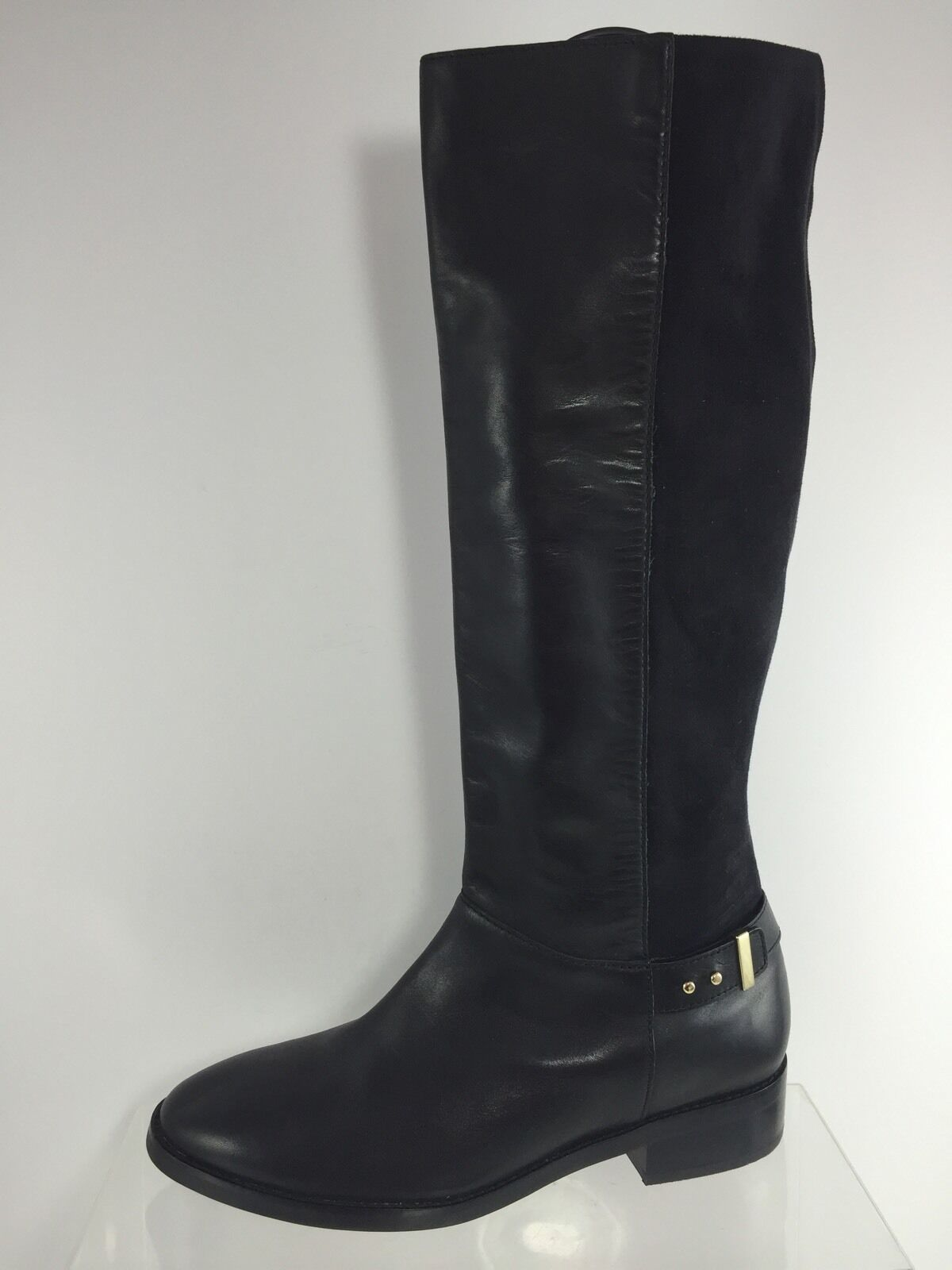 Cole Haan Womens Black Leather Knee Boots 10 B