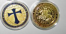 Cavalieri templari Cavalieri croce Oro goldene placcato oro Medaglia colorato