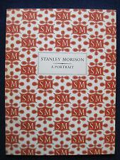 STANLEY MORISON Original London Exhibition Catalogue TYPOGRAPHY 1st Ed.