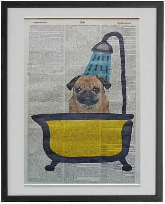 Pug Dog Wall Art No.384, vet gifts