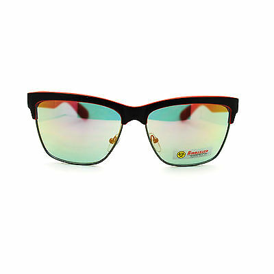 Biohazard Colorful Mens Half Horn Rim Sports Color Mirror Lens Sunglasses New