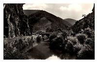 Walporzheim Ahrtal alte Ansichtskarte 1950 gelaufen Partie an der Bunte Kuh Fluß