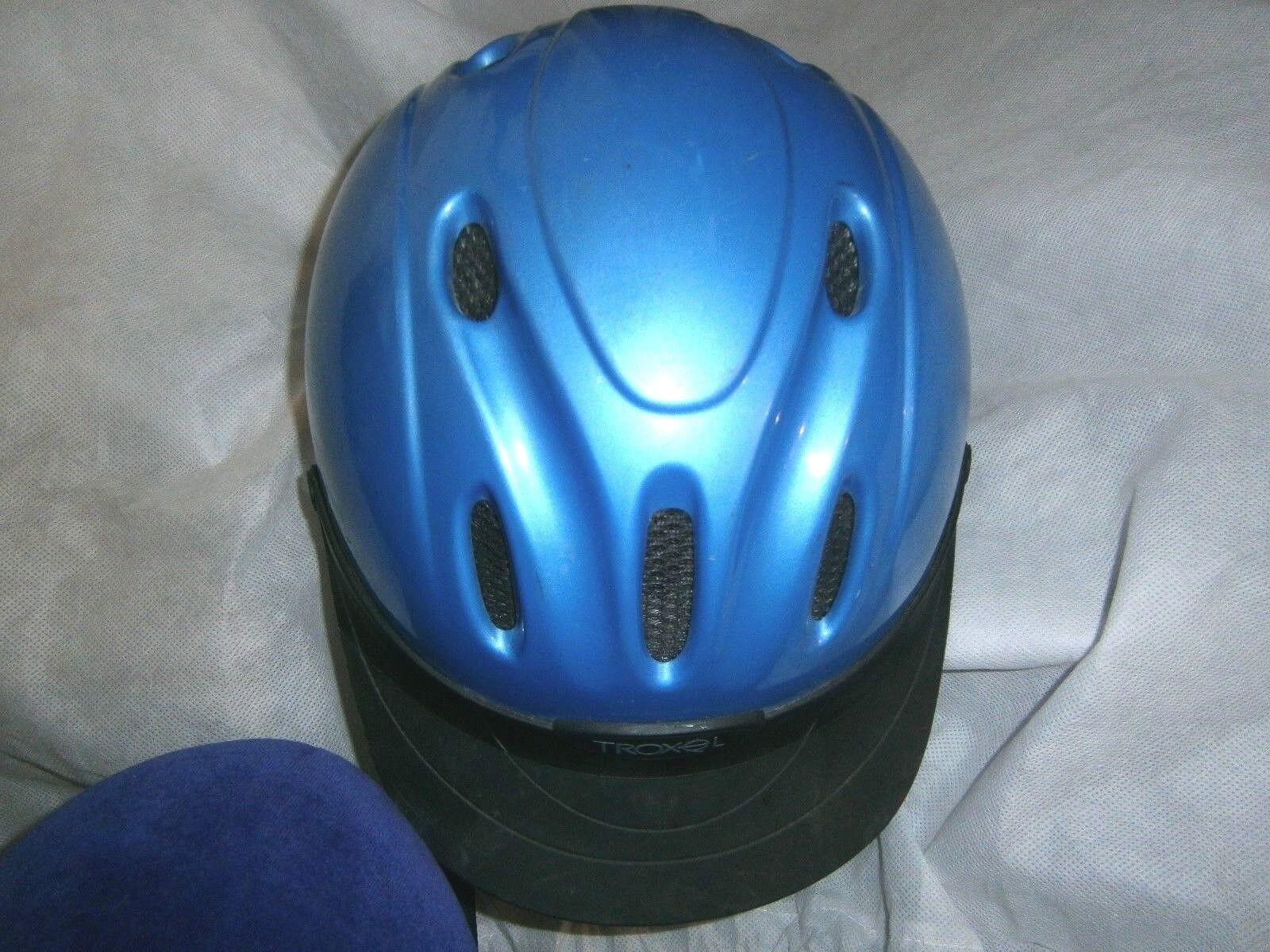 Equestrian riding helmet Troxel Med 6 3 4-6 7 8 SEI Periwinkle bluee L@@K